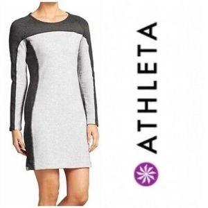 Athleta Omega Long Sleeve Sweatshirt Dress